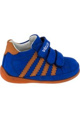 Vicco 918.18Y.034 Üç Cırt Deri Mavi Çocuk Spor Ayakkabı