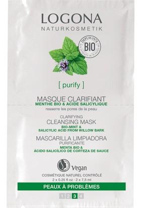 Logona Organik Nane ve Salisilik Asitli Arındırıcı Maske 2x7.5 ml.