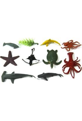 Vardem Pvc 9 Parçalı Hayvan Seti Deniz Hayvanları Su Altı Dünyası