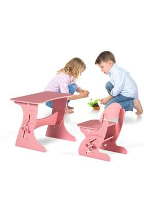 Azzore Akıllı Cocuk Masa Sandalye Takımı -Kız