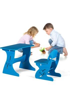 Azzore Akıllı Cocuk Masa Sandalye Takımı -Erkek