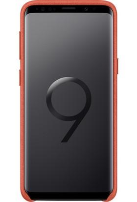 Samsung S9 Alcantara Kılıf Kırmızı - EF-XG960AREGWW