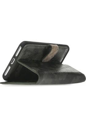Bouletta Magic Wallet Deri Telefon Kılıfı - iPhone7 / iPhone 8 Plus - KFL6 Yeşil