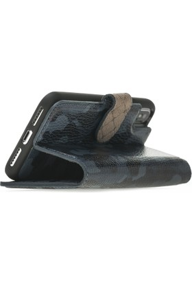 Bouletta Magic Wallet Deri Telefon Kılıfı - iPhone X - KFL16 Mavi