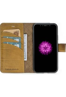 Bouletta Magic Wallet Deri Telefon Kılıfı - iPhone X - V5EF Hardal