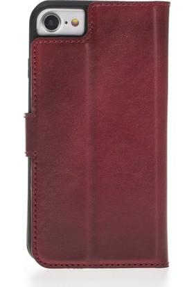 Bouletta Magic Wallet Deri Telefon Kılıfı - iPhone7 / iPhone 8 - V4EF Kırmızı