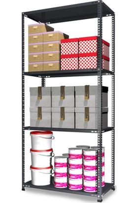Binbirreyon Çelik Raf Sistemi Çok Amaçlı Depolama 4 Raflı BD012Ü