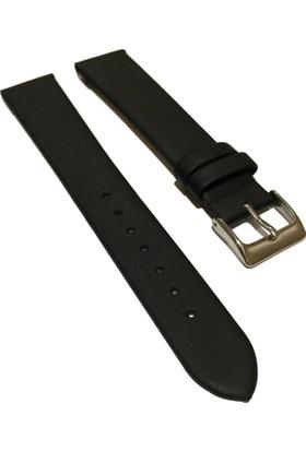 Morello Soft Mat İnce Hakiki Deri Saat Kayışı 16X14Mm Siyah