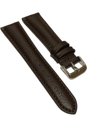 Morello Rolaks Baskılı Klasik Hakiki Deri Saat Kayışı 22X18Mm Kahverengi