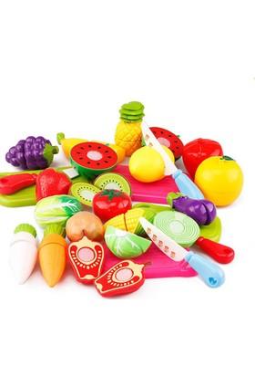 Kkd Kesilebilen 22 Parça Kesme Tahtalı Oyuncak Sebze Meyve Seti