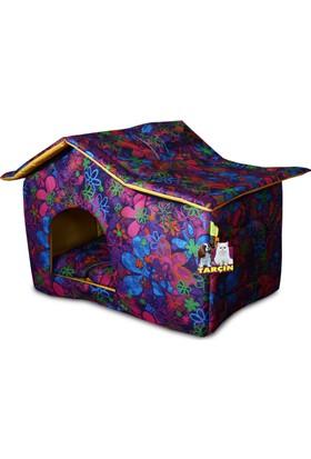 Binbirreyon Köpek Kulübesi Köpek Yatağı Çatılı Dayanıklı Imperteks Kumaş 2 Renk UB036