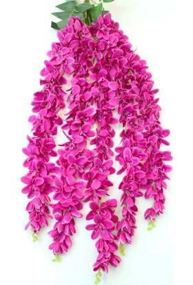 Yapay Çiçek Deposu Yapay Çiçek 5li Uzun Sarkan Sümbül 85 cm Koyu Pembe