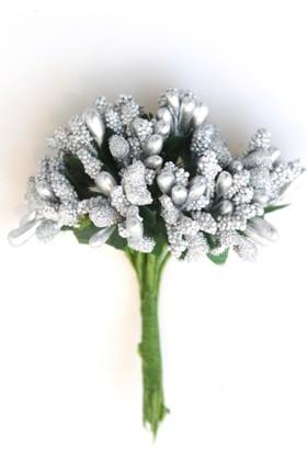 Yapay Çiçek Deposu İri Damla Cipso 12li Gümüş