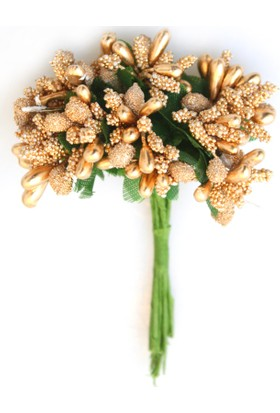 Yapay Çiçek Deposu İri Damla Cipso 12li Bronz