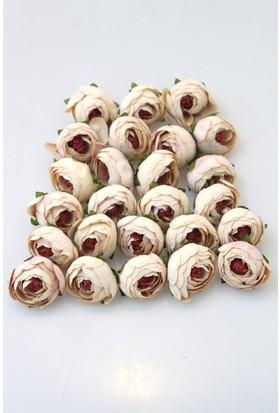 Yapay Çiçek Deposu 25li Paket Yapay Küçük Kafa Şakayık Pudra