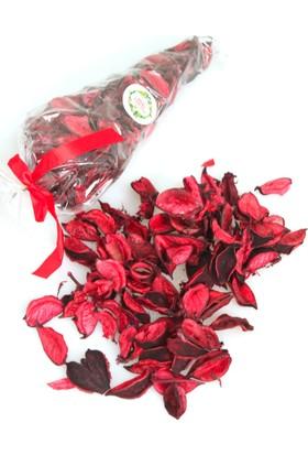Yapay Çiçek Deposu Kokulu Gerçek Kurutulmuş Gül Yaprağı Potpourri Koyu Kırmızı 100gr