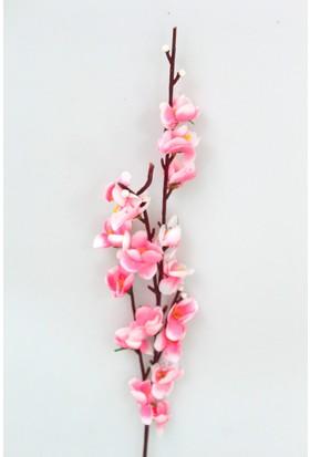 Yapay Çiçek Deposu Ucuz Küçük Yapay Bahar Dalı 51 cm Pembe