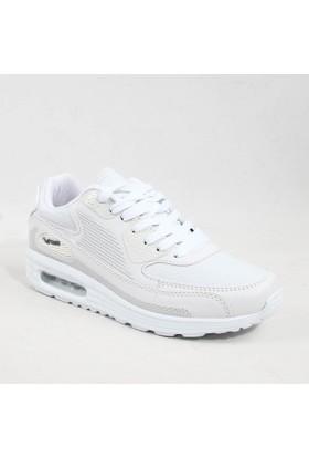 Wickers 1651 Bayan Günlük Spor Ayakkabı Beyaz