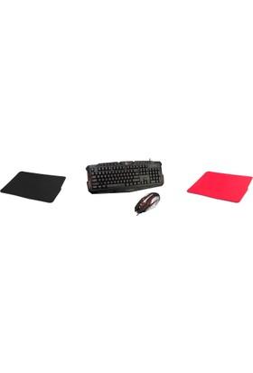 Everest Rampage KM-R77 Gaming Oyuncu Paketi ( TKZ Mouse Padler )