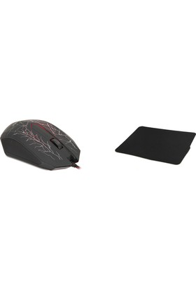 Everest Olivine Siyah Klavye + Mouse Gaming Oyuncu Set ( TKZ Mouse Padler )