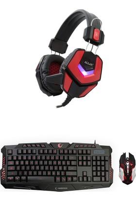 Everest Rampage KM-77 Gaming Aydınlatmalı Oyuncu Set (Klavye Mouse Kulaklık)