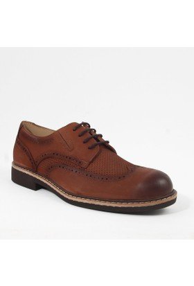 White World 1728 Erkek Bağcıklı Deri Ayakkabı Taba