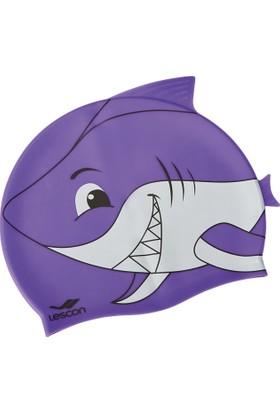Lescon La-2217 Mor Silikon Bone Çocuk Köpekbalığı