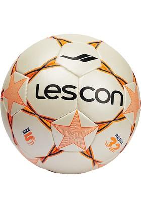 Lescon La-2559 Beyaz Turuncu Futbol Topu 4 Numara