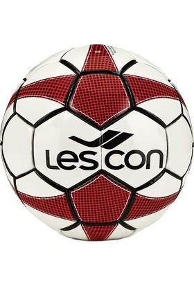 Lescon La-2557 Kırımızı Futbol Topu Shiny-5 Numara