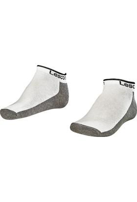 Lescon La-2185 Beyaz Erkek Patik Çorap 36-40 2'Li