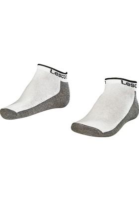 Lescon La-2185 Beyaz Erkek Patik Çorap 40-45 2'Li