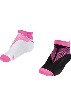 Lescon La-2196 Fuşya Erkek Patik Çorap 30-35 2'Li