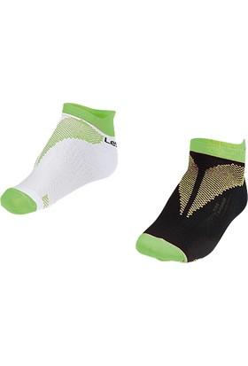 Lescon La-2196 F.Yeşil Erkek Patik Çorap 26-30 2'Li