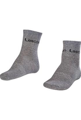Lescon La-2181 Grimelanj Erkek Tenis Çorap Kısa 40-45 2'Li