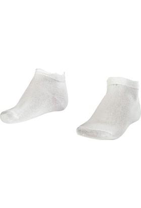 Lescon La-2184 Beyaz Erkek Patik Çorap 40-45 2'Li