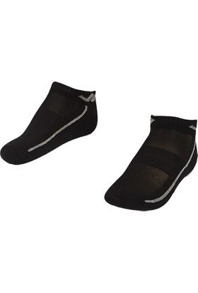 Lescon La-2194 Siyah Erkek Patik Çorap 36-40 2'Li