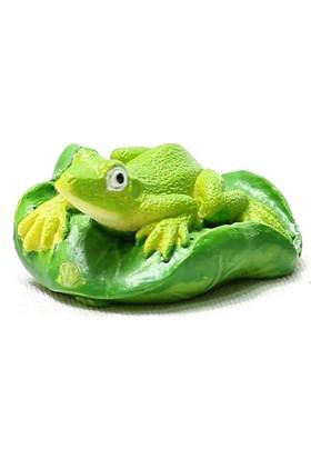 Bigpratic Teraryum Malzemesi Kurbağa Açık Yeşil Renk