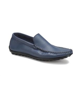 Overside 2250 M 6674 Mavi Erkek Deri Ayakkabı