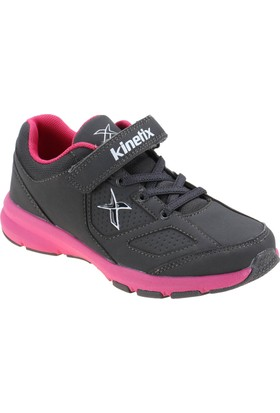 Kinetix 1254379 Antrasit Fuşya Beyaz Kız Çocuk Koşu Ayakkabısı