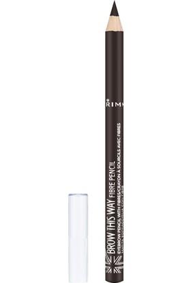 Rimmel London Brow This Way Pencil Fiber Dark