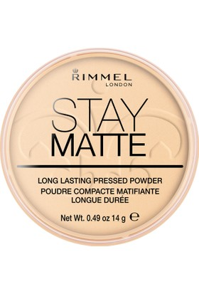 Rimmel London Stay Matte Pressed Powder Pudra 001-TRANSPARENT