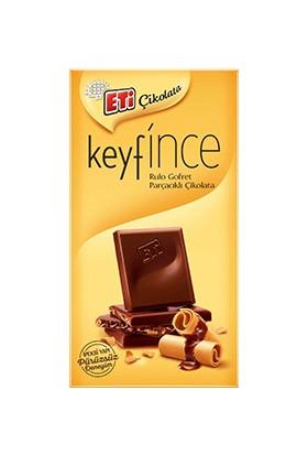 Eti Keyf İnce Rulo Gofret Parçacıklı Çikolata 12 ad