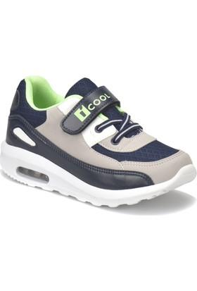 I Cool Pepe Gri Lacivert Yeşil Erkek Çocuk Sneaker