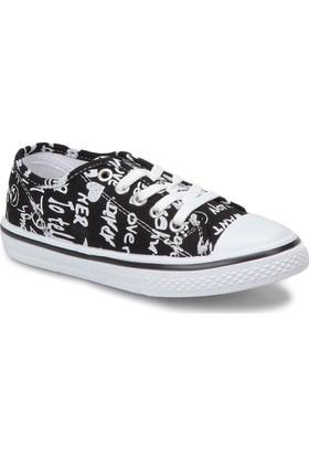 Kinetix Beny Print Siyah Beyaz Erkek Çocuk Sneaker