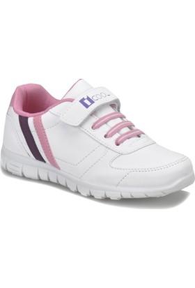 I Cool Demba Beyaz Mor Pembe Kız Çocuk Sneaker