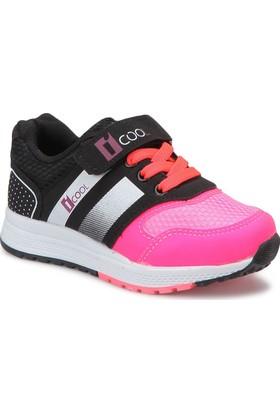 I Cool Enough Neon Pembe Siyah Kız Çocuk Sneaker