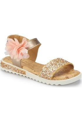 Pink Step Suvla Altın Kız Çocuk Sandalet