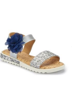 Pink Step Suvla Gümüş Kız Çocuk Sandalet