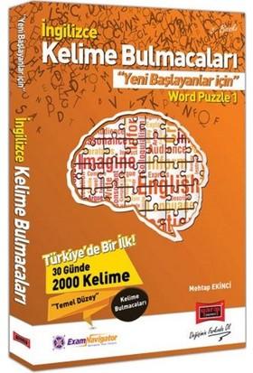 Yargı Yayınları İngilizce Kelime Bulmacaları Yeni Başlayanlar İçin Word Puzzle 1 - Mehtap Ekinci