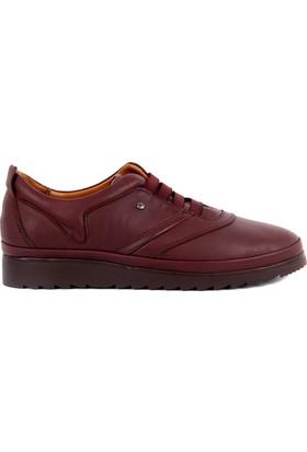 Estile Bordo Günlük Kadın Ayakkabı
